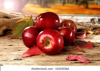 red apples on window