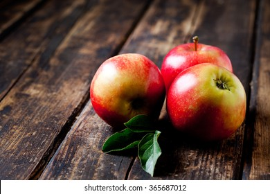 Red apples on wood, Gala