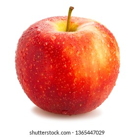 red apples path isolated