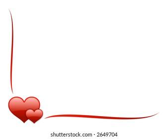 red aqua valentine frame