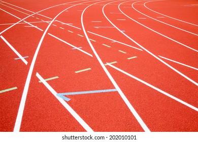 Red Asphalt for runners.
