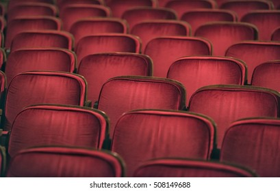 Red auditorium chairs