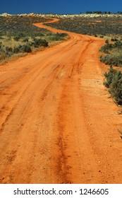 Red Australian Rural Road