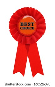red award with the text best choice on it
