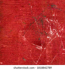 red background based on synthetic fabric texture. Useful for design-works