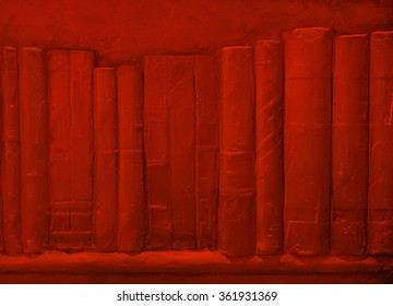 red background book texture