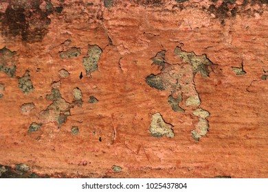 Red background with crack