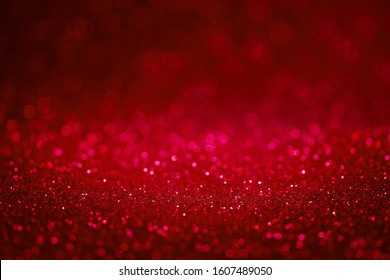 red background glitter abstract blur select focus