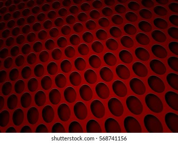 Red background with lot of perforated dots