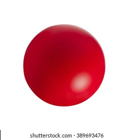 red ball isolated on white