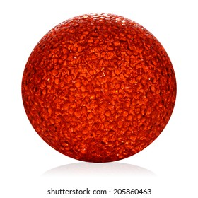 Red ball on white background