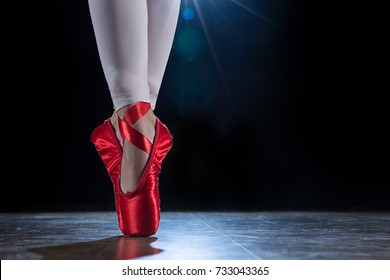 Red Ballet Shoes Images, Stock Photos