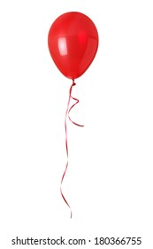 Red balloon on white