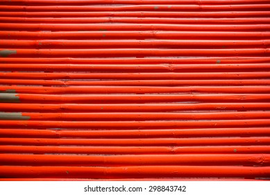 Red bamboo pattern for background.
