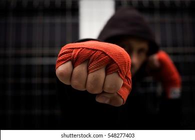 red bandage