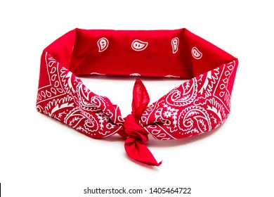 Red bandana isolated on white