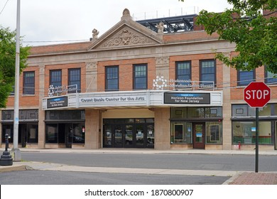 RED BANK, NJ –16 JUL 2020- View of the landmark Count Basie Center for the Arts theater in Red Bank, Monmouth County, New Jersey.
