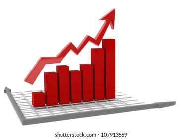 Red bar chart