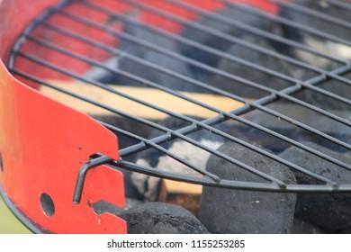 Red barbecue coals