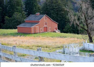 Red Barn in California, USA