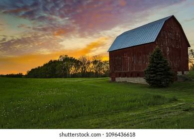 Red Barn in Grand Rapids Michigan