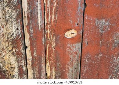 Red barn wall