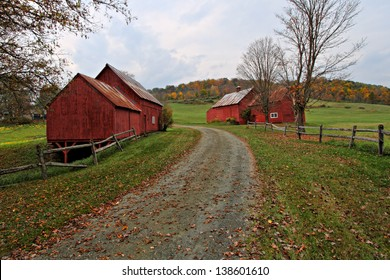 Red Barns of Vermont in Autumn