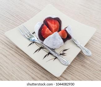 Red Bean Strawberry Daifuku