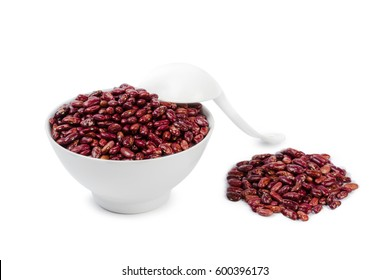 Red beans isolated on white background
