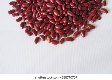 red beans on corrugated plastic