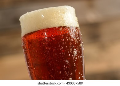 Red Beer Close Up