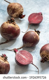 Red beet or beetroot on a table