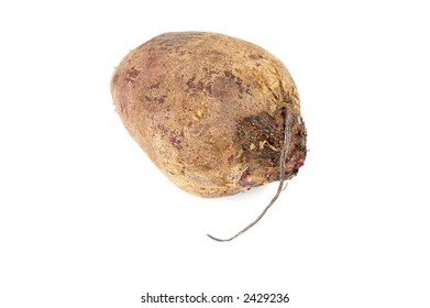 Red beet over white background . . .
