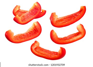 Red Bell Pepper slices (Capsicum annuum )