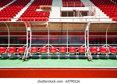 Red Bench and Stadium