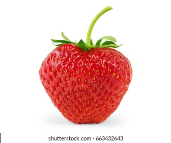 Red berry strawberry isolated on white background - Shutterstock ID 663432643