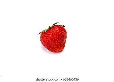 Red berry strawberry isolated on white background - Shutterstock ID 668460436
