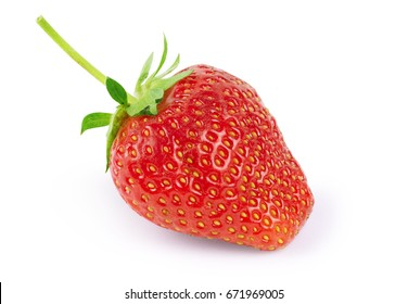 Red berry strawberry isolated on white background - Shutterstock ID 671969005