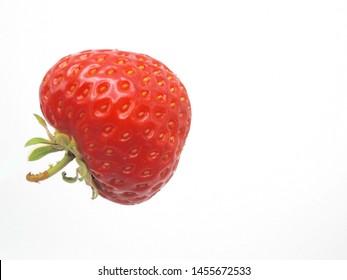 "Red berry strawberry ""Rumba"" (Fragaria × ananassa) isolated on white background"
