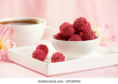 red berry truffles