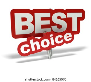 Red Best choice tag over a hite background - decorative element