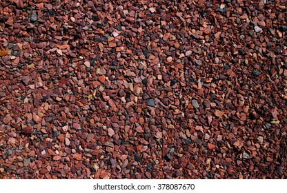 Red and Black Colorful Small Gravel Rocks Pebbels