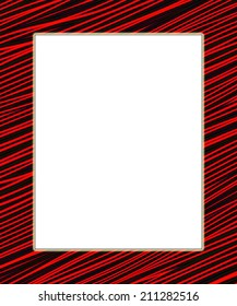 Red and black digital frame. Add your text in the white field.
