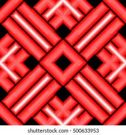 red -black geometric background with technical design