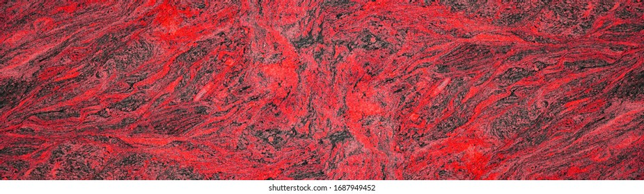 Red black gray abstract marble granite natural stone texture background banner panorama