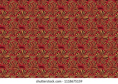 Red, black, green and yellow hibiscus pattern. Exotic raster seamless pattern floral design. Textile print for bed linen, jacket, package design, fabric and fashion concepts. Floral seamless pattern.
