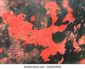 Red and Black Grunge Background Peeling Paint