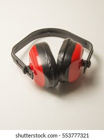 Red and black noise reduction equipment/Sound Reduction Headset/Decibel protection equipment used for hearing protection