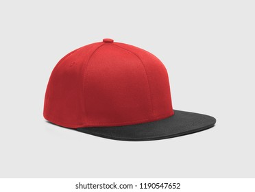 Red black Snapback Cap