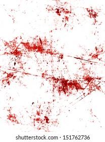 red blood splatter on a grunge like background